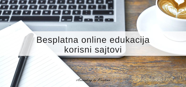 Besplatna online edukacija - korisni sajtovi