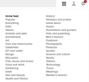 Izaberite neku od ponuđenih kategorija ili iskoristite search opciju
