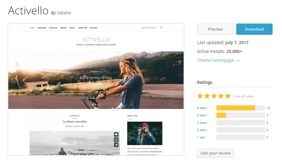 ACTIVELLO WordPress tema