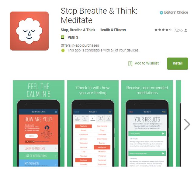 Stop Breathe & Think: Meditate