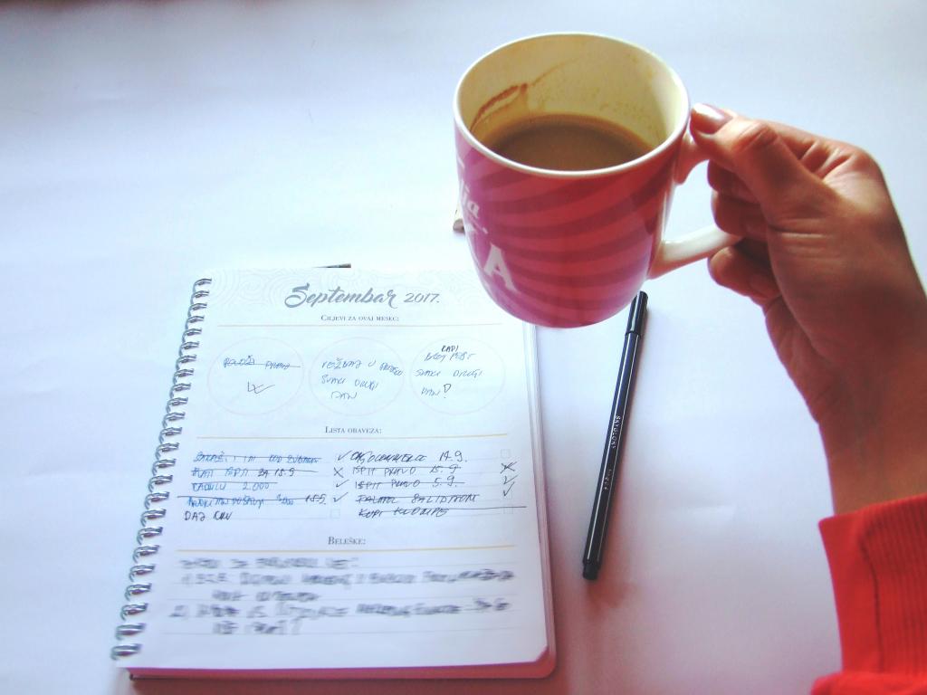 Prva jutarnja kafa + planovi za taj dan