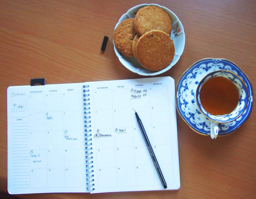 Dan započnite planiranjem © According to Kristina