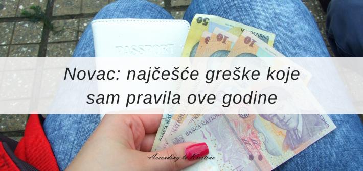 Novac: najčešće greške koje sam pravila ove godine © According to Kristina