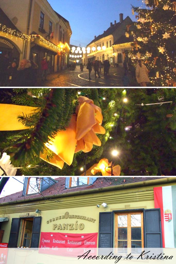 Šetajući Sentandrejom: centar sela, praznična dekoracija i srpska kafana © According to Kristina