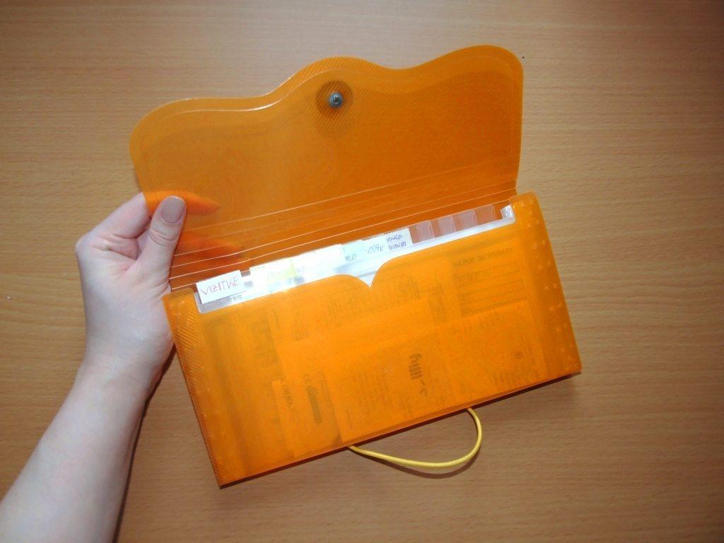 Harmonika plastična fascikla koju ja koristim za novac © According to Kristina