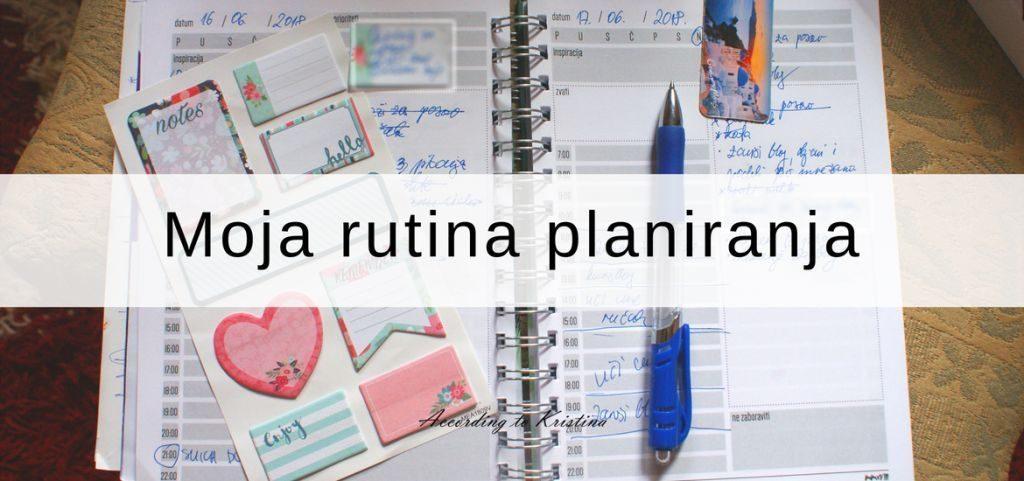 Moja rutina planiranja