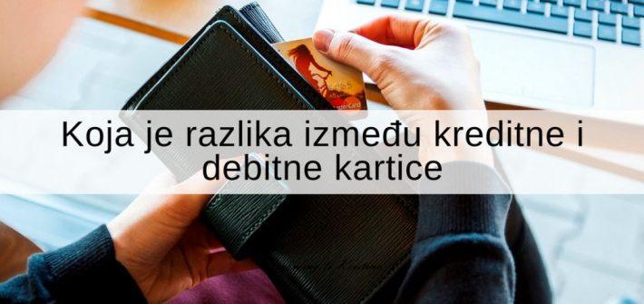 Koja je razlika između kreditne i debitne kartice