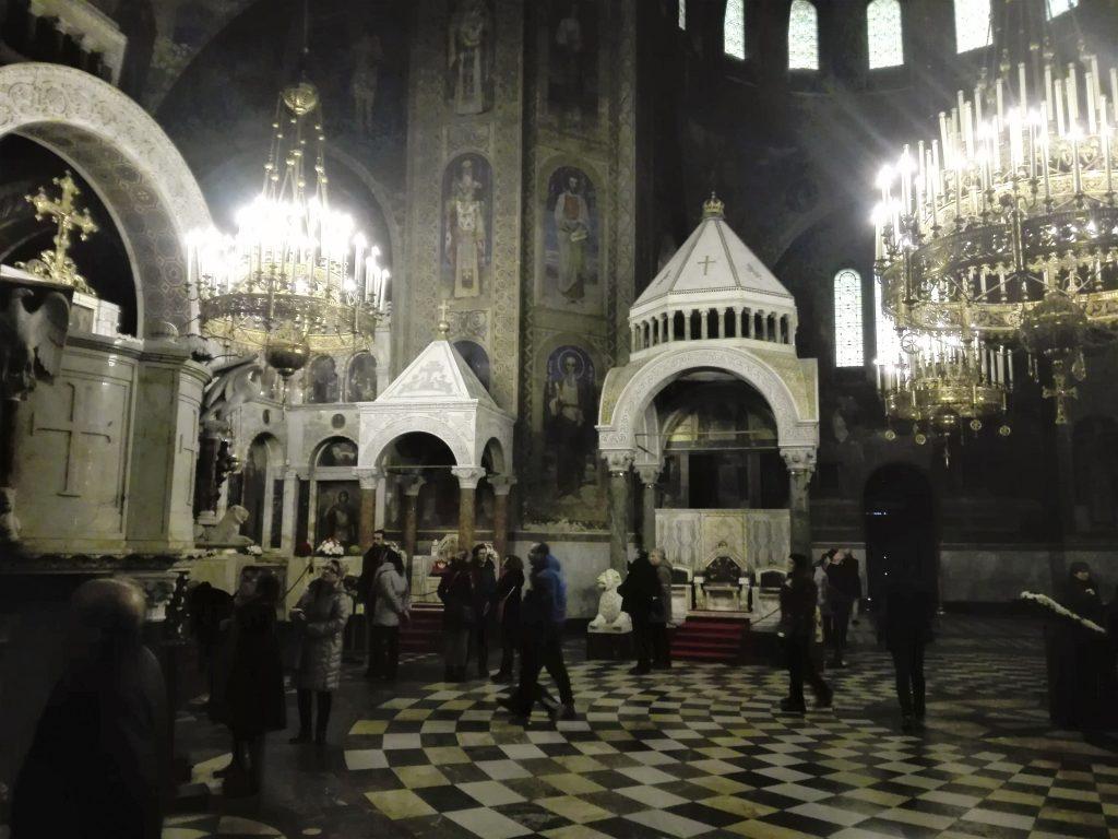 Unutrašnjost crkve Aleksandar Nevski © According to Kristina
