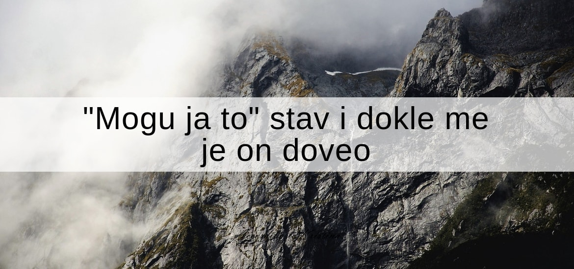 Mogu ja to stav i dokle me je on doveo
