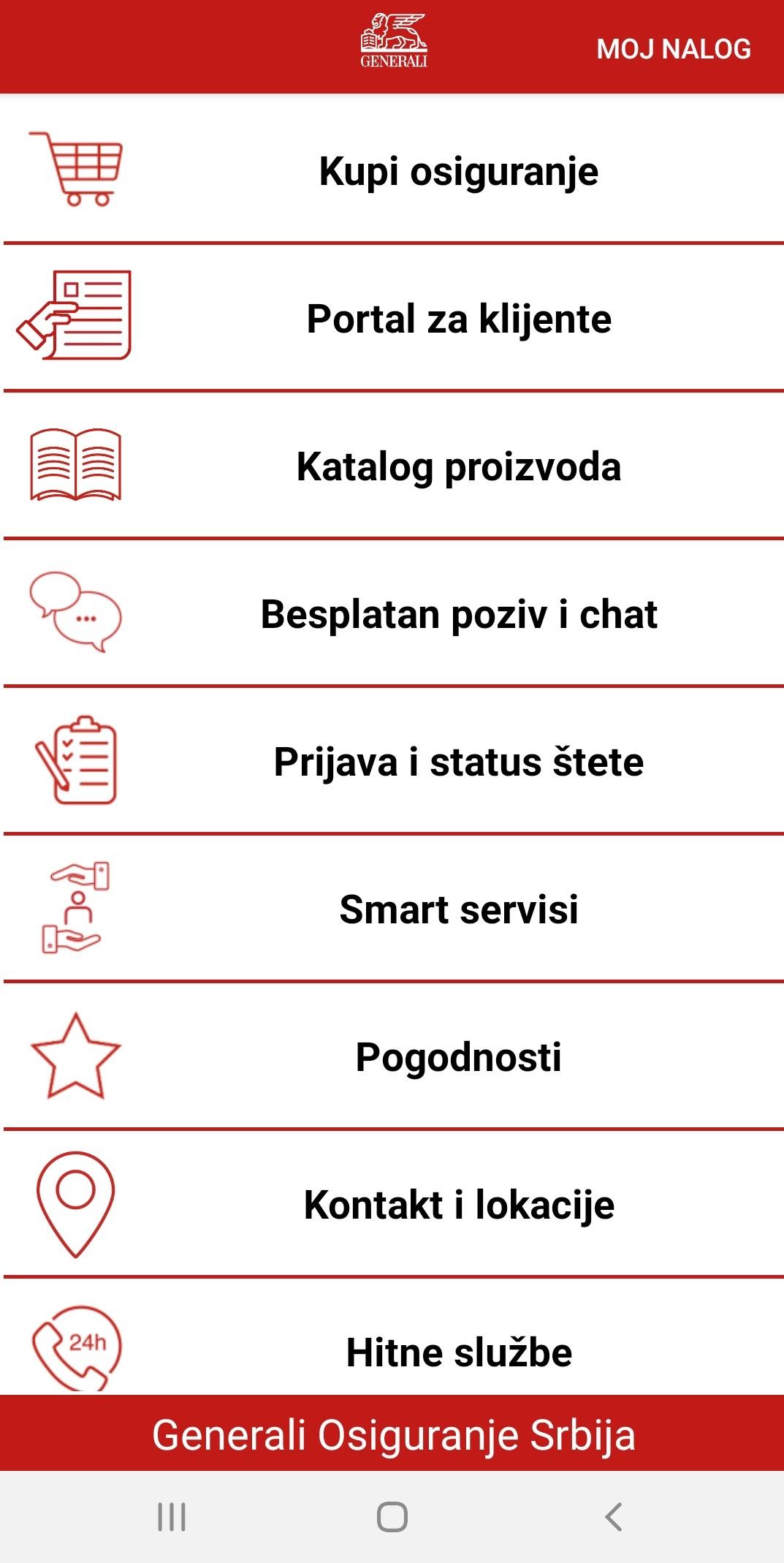 Generali aplikacija